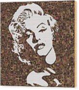 Beautiful Marilyn Monroe Digital Artwork Wood Print