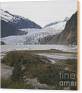 Beautiful Mendenhall Glacier Wood Print