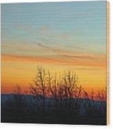 Beautiful Mountain Sunset Wood Print