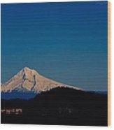 Beautiful Mt Hood Wood Print