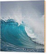 Beautiful Ocean Wave Wood Print by Boon Mee