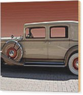Beautiful Old Time Travelling Car Wood Print