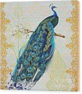 Beautiful Peacock-a Wood Print