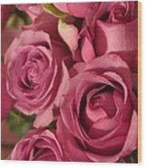Beautiful Pink Roses 6 Wood Print