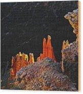 Beautiful Pinnacles At Bryce Canyon Wood Print