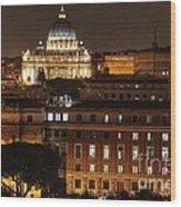 Beautiful Roman Night  Wood Print