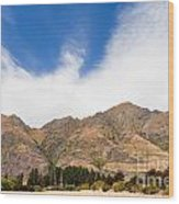 Beautiful Roys Peak Near Wanaka In Southern Alps Of New Zealand Wood Print