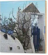 Beautiful Santorini Wood Print