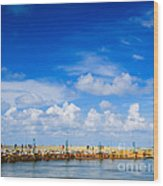 Beautiful Sea Sky Wood Print
