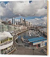 Beautiful Seattle Sky Wood Print by Mike Reid