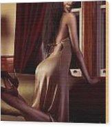 Beautiful Sexy Black Woman Near A Window Wood Print