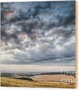Beautiful Skies Over Farmland Wood Print
