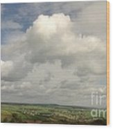White Clouds Over Yorkshire Dales Wood Print
