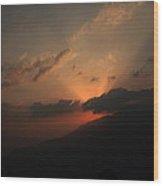 Beautiful Sunrise Of Shelapani Wood Print