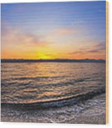 Beautiful Sunrise On A Red Sea Beach Wood Print
