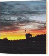 Beautiful Sunset In East Tn Wood Print