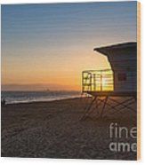Beautiful Sunset In Point Mugu State Park In Malibu. Wood Print