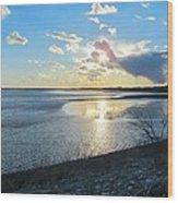 Beautiful Sunset Iowa River Wood Print