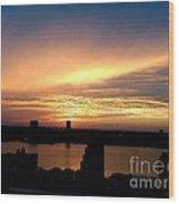Beautiful New York City Sunset - Upper West Side Wood Print