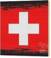 Beautiful Switzerland Flag Wood Print