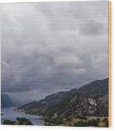Beautiful View Of Lysefjord  Wood Print