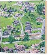 Beautiful Village Lauterbrunnen Wood Print