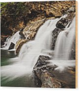 Beautiful Waterfall In Western Ghats Karnataka India Wood Print