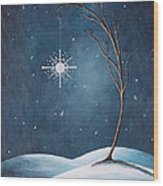 Beautiful Winterland By Shawna Erback Wood Print by Shawna Erback