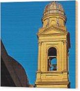 Beautiful Yellow Church Steeple Wood Print