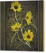 Beauty And Bark Wood Print