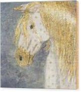 Beauty And Strength  Golden Appaloosa Wood Print