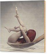 Beauty Bath Wood Print by Jelena Jovanovic
