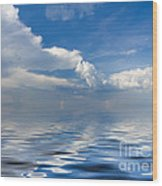beauty Clouds over Sea Wood Print by Boon Mee