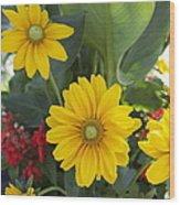 Beauty Flowers Wood Print by Jocelyne Choquette