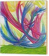 Beauty Gives Joy Wood Print by Kelly K H B