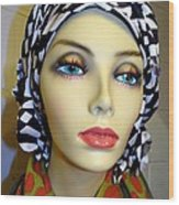 Beauty In Turban Wood Print