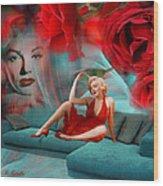 Beauty Never Dies - Tribute Art By Giada Rossi Wood Print