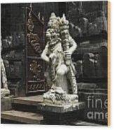 Beauty Of Bali Indonesia Statues 1 Wood Print