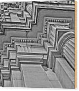 Beauty Of Cast Stone Moulding Wood Print by Mamie Thornbrue