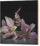 Beauty Of Decaying Lilies Wood Print