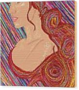 Beauty Of Hair Abstract Wood Print