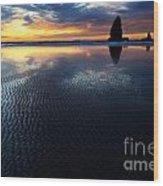 Beauty Of Oregon Cannon Beach 1 Wood Print