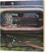 Beauty Of Rust 4 Wood Print