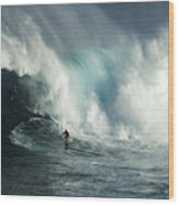 Beauty Of Surfing Jaws Maui 7 Wood Print