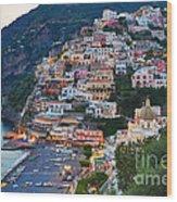 Beauty Of The Amalfi Coast  Wood Print by Leslie Leda