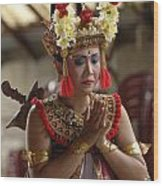 Beauty Of The Barong Dance 1 Wood Print