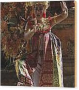 Beauty Of The Barong Dance 3 Wood Print
