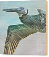 Beauty Of The Pelican Wood Print
