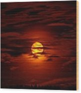 Beauty Of The Sun And Clouds Wood Print