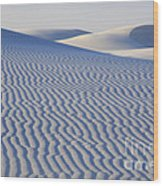 Patterns White Sands New Mexico Wood Print